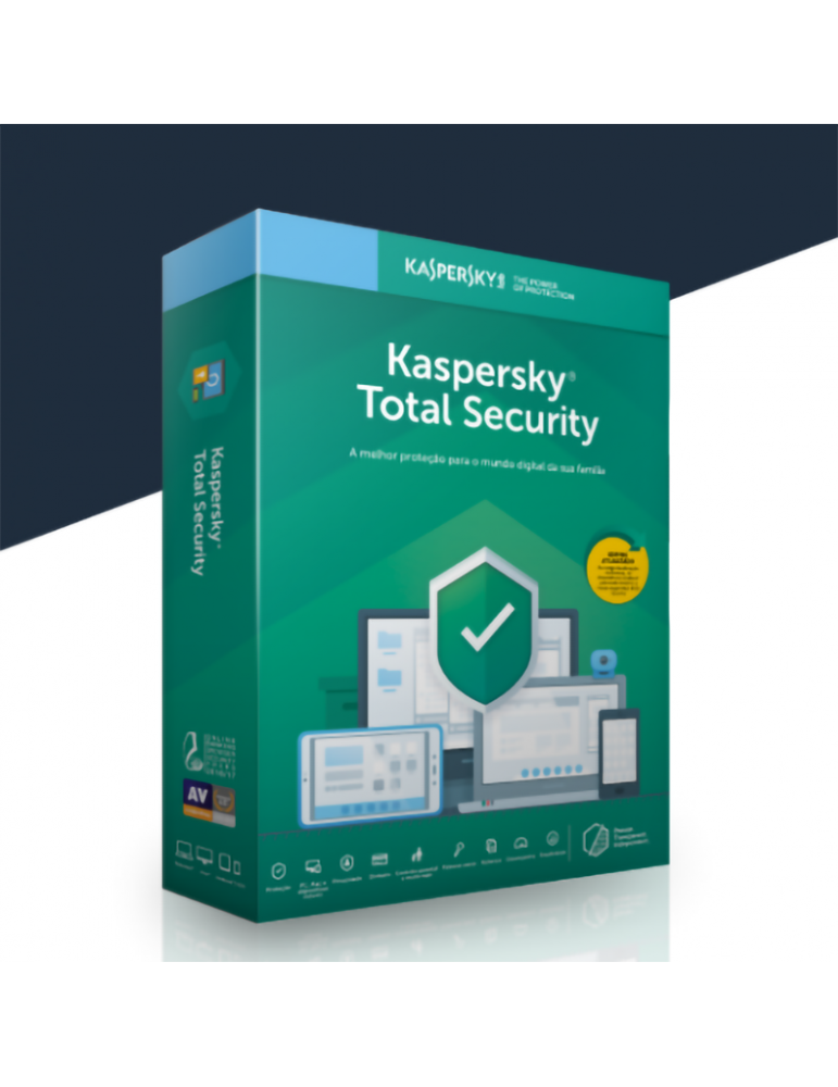Kaspersky Total Security 3 PC's | 1 Ano