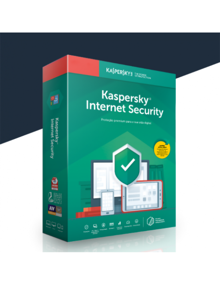 Kaspersky Internet Security 3 PC's   1 Ano