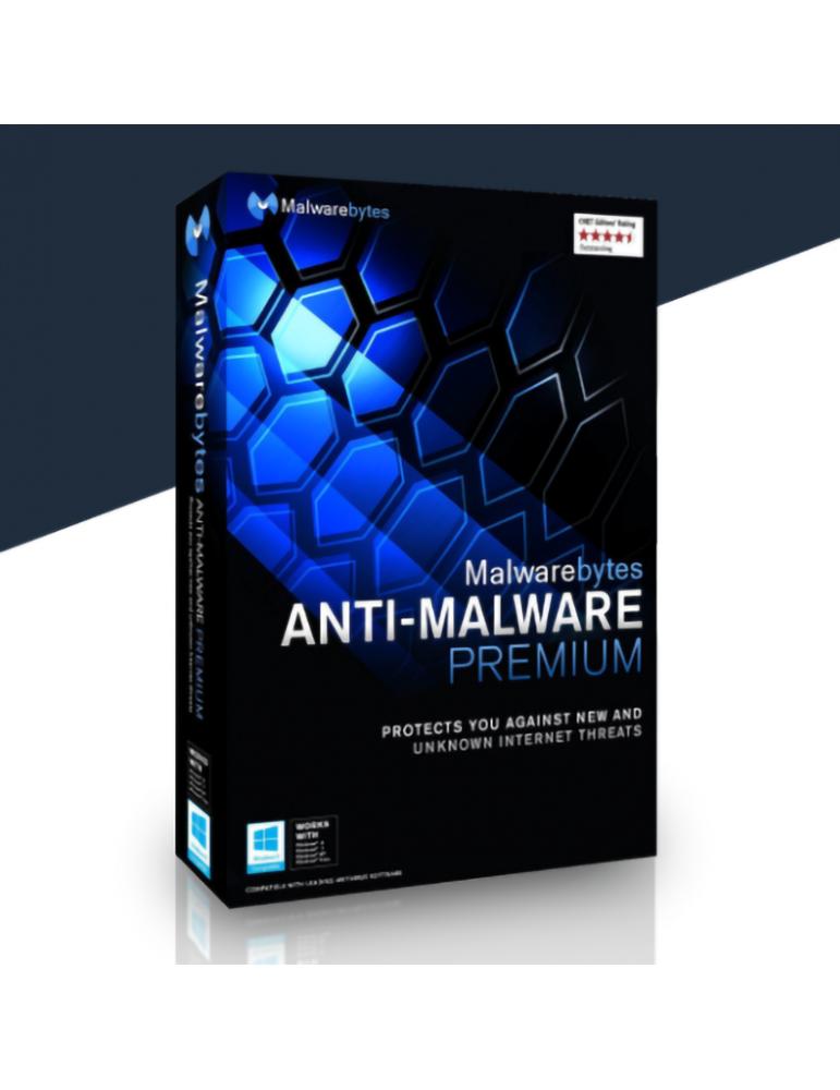 MalwareBytes Anti-Malware Premium 3 Dispositivos   1 Ano