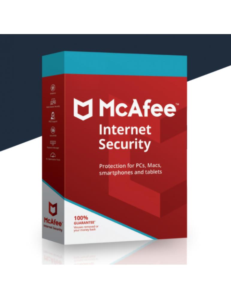 Mcafee - Mcafee Internet Security 5 PCs   1 Ano