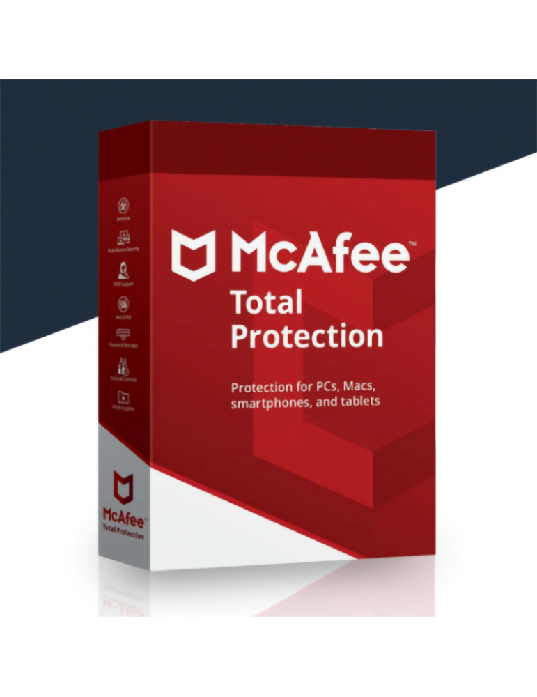 Mcafee Total Protection 5 PC's | 1 Ano