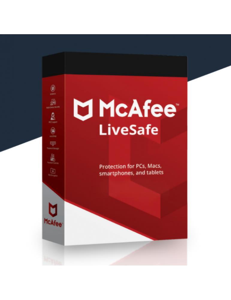 Mcafee Livesafe | Dispositivos Ilimitados | 1 Ano